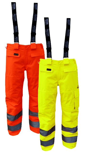 High-Visibility Flame Retardant Rain Trousers