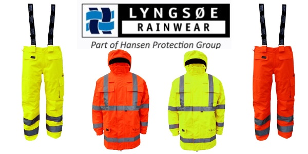 Lyngsoe Rainwear Electric Arc Flash Protection | High-Visibility Flame Retardant Rain Jacket & Trousers