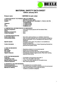 NOFIRNO - MSDS Material Safety Data Sheet - Power and Cables