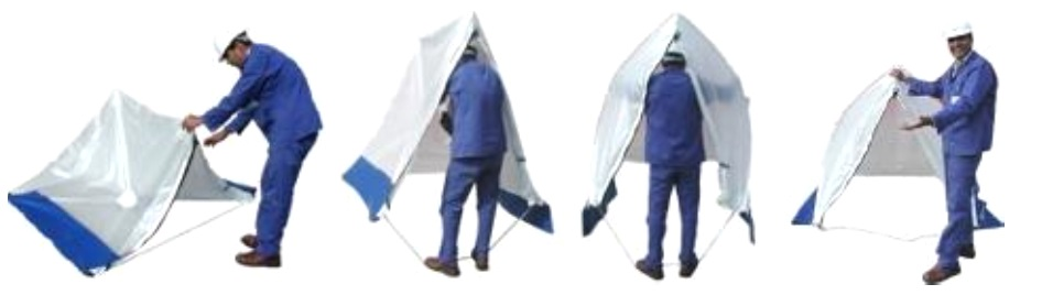 Triangle Style Speed Tent For Cable Jointing LV MV HV Quick & Easy To Assemble