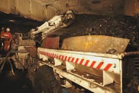 Underground Shuttle Car Loading Coal