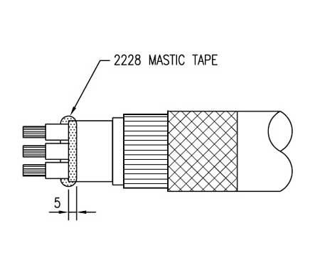 Apply 3M 2228 Mastic Tape