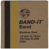 BAND-IT C924 | Austenitic Stainless Steel Band 1/2″ 12.70mm