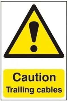 Caution Trailing Cables