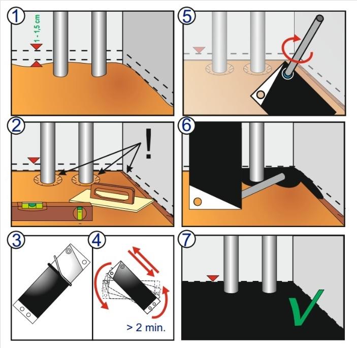 Cabinet Base Sealants - Filoform 205883- Installation Instructions