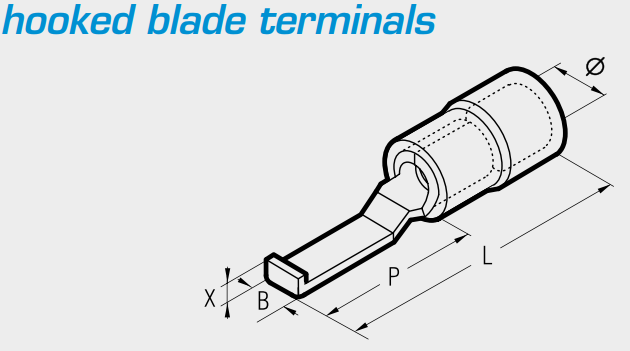 Cembre Hooked Blade Terminals