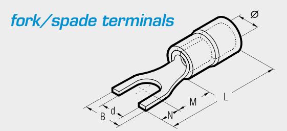 Cembre Fork/Spade Terminals