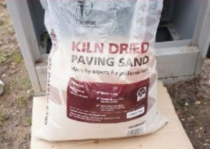 Open the kiln dried sand