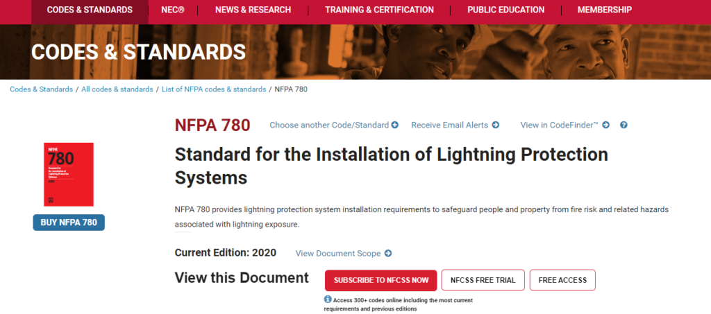 NFPA 780 Lightning Protection Systems