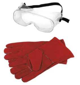 Safety Goggles & Heat Resistant Gloves