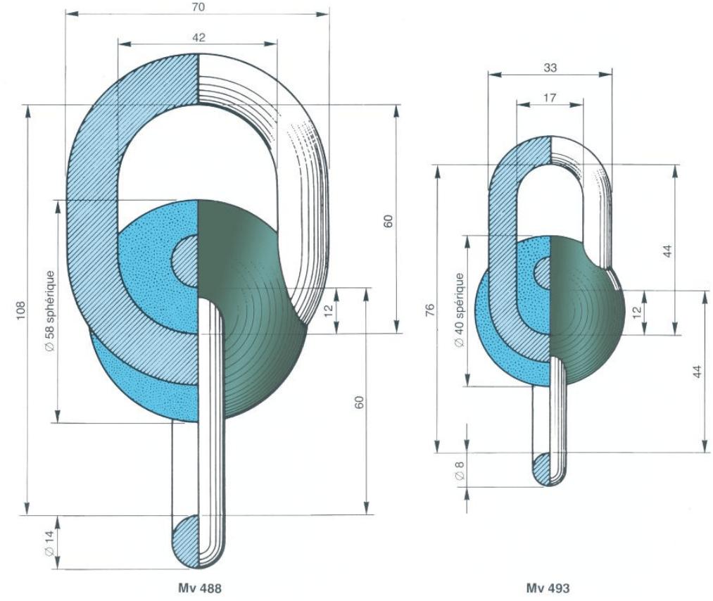 MV488-MV493 Micaver Insulators