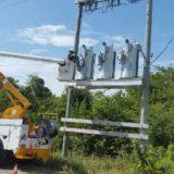Installing Bank Of Medium Voltage Westinghouse Regulators To Overhead Line