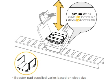 3. Remove or insert booster pad as required