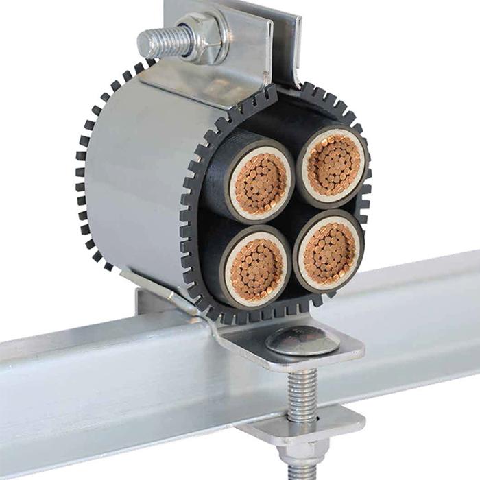 Quad Cable Cleats - Quadplex QPSS Metal Cable Cleats