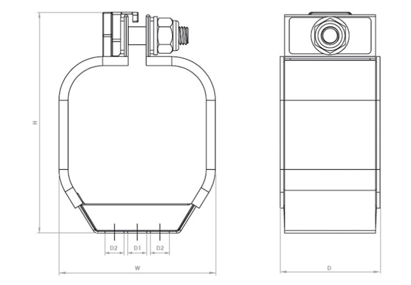 Saturn Quad Cable Cleats Technical Illustration