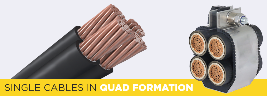 Single Cables In Quad Formation