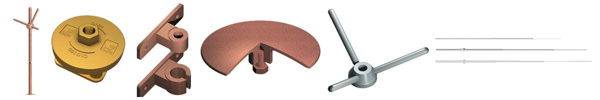 Air Rod | Air Rod Base | Rod Brackets | Strike Pad | Multiple Pad | Free-Standing Interception Pole