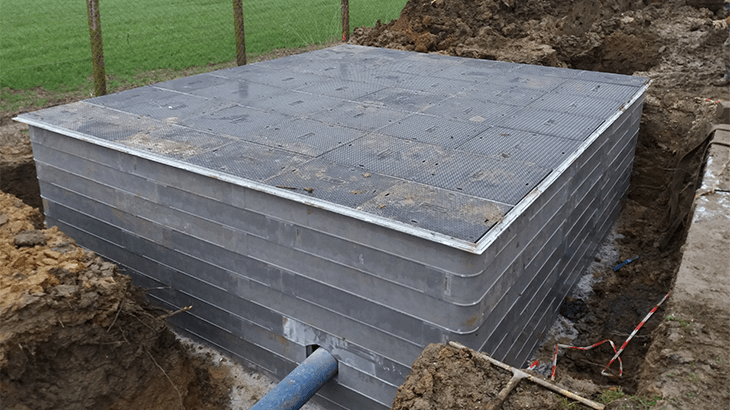 Composite Access Chamber Cover Installation