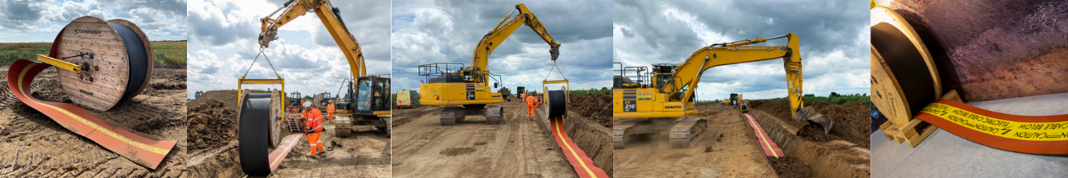 Stokbord Drum Cable Protection for Underground Utility Cables