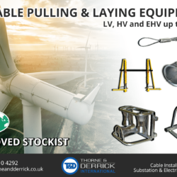 Thorne & Derrick Appointed Approved Stockist for UK Leading Cable Pulling Equipment Manufacturer