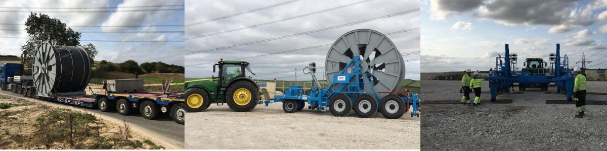 CD980s Extendable Cable Drum Trailer