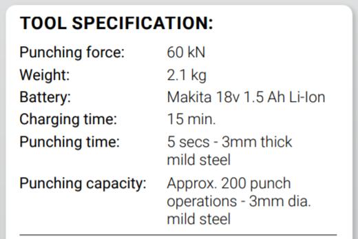 Klauke-tool-specification-ls-50