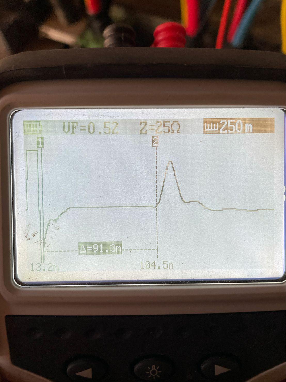 Megger TDR1000/3P Handheld TDR For Power Application