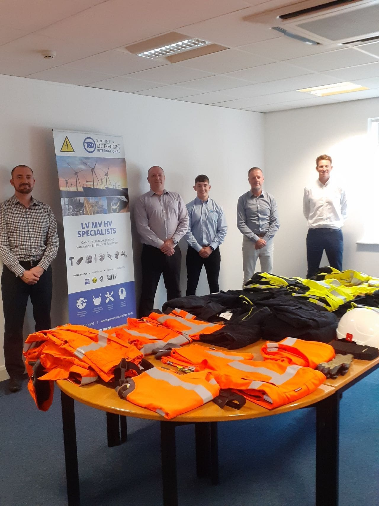 Pictured: Paul Hertherington (National Key Account Manager | ProGARM) during recent Technical Training & Product Training Day at Thorne & Derrick with Dave Tinning, Carl Cox, Chris Dodds & Jonny Hewitt.